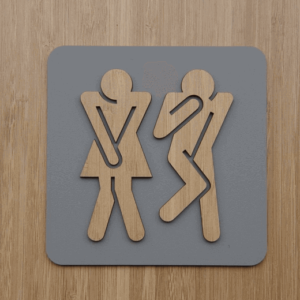 Toilet sign Dark | etchArt