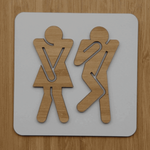 Toilet sign Light | etchArt